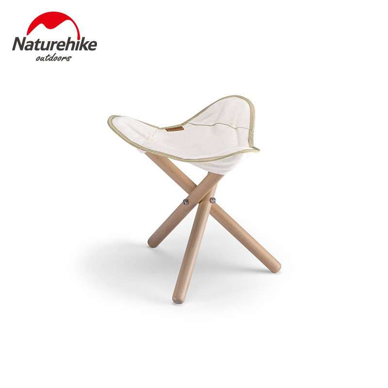 Naturehike Outdoor Folding Triangle Solid Wood Stool Chair